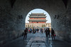The tunnel under the Qianmen Archery Tower reveals Qianmen Gate. (Xicheng, Beijing, CN - 10/23/13, 4:09:56 PM)