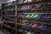 A large variety of shoes and boots are for sale in a Dongdan Street shoe store. (Dongcheng Qu, Beijing, CN - 11/01/16, 6:01:53 PM)