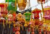 Lanterns decorate a Qianhua Village street. (Jurong Shi, Zhenjiang Shi, Jiangsu Sheng, CN - 06/07/18, 3:31:49 PM)