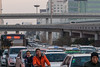 Rush hour traffic in the financial district (Xincheng, Hohhot, Inner Mongolia, CN - 11/08/13, 5:15:23 PM)