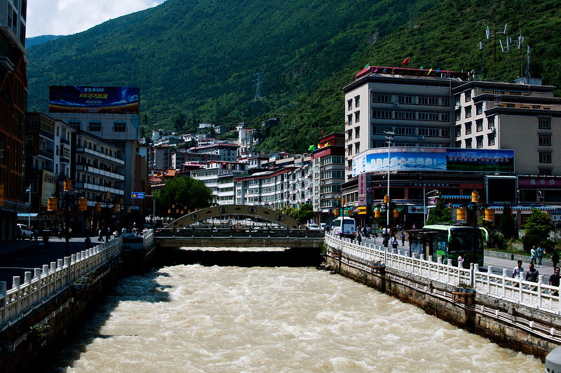 Down stream from the Rainbow bridge in Kangding
