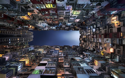 Beehive Buildings in Hong Kong