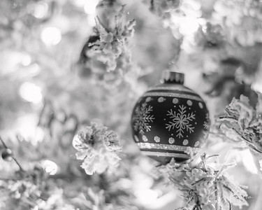 Christmas Ornament  Black & White Series