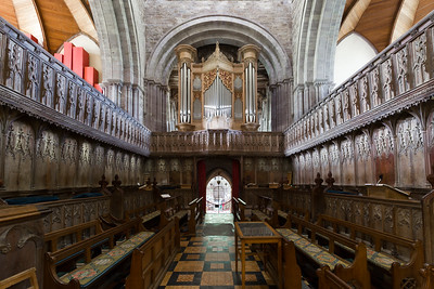 Quire, St David's Cathedral, Wales