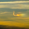 prismatic cloud (ice crystals) form a dragon