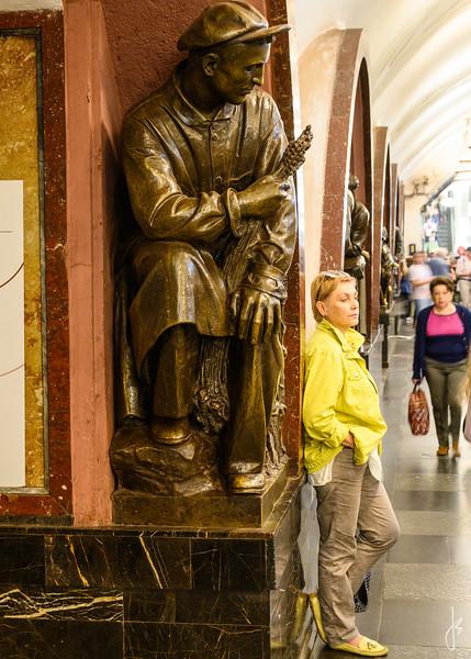 Ploschad Revolyutsii Station, Metro, Moscow, Russia