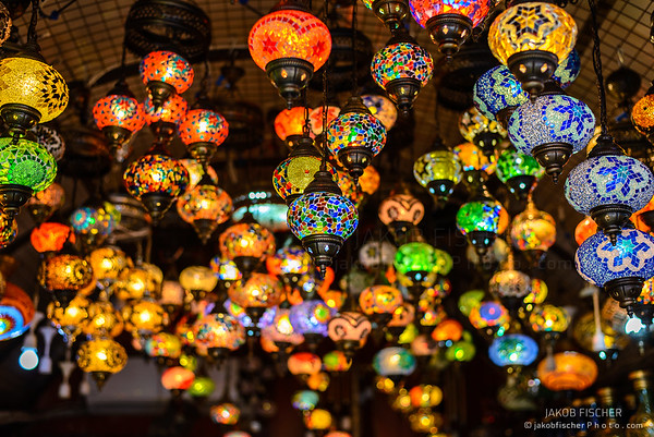 traditional oriental lamps on Grand Bazar, Istanbul
