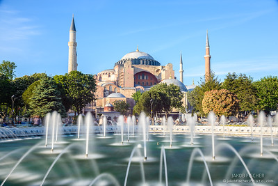 Hagia Sophia with fountain in the foreground