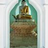 framing of meditating buddha
