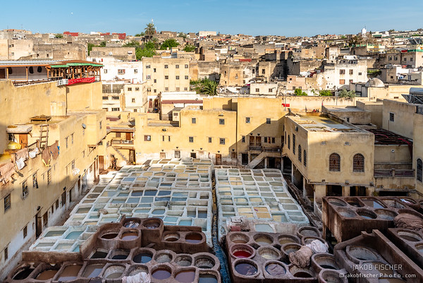 Chouara Tannery  in Fes, Morocco