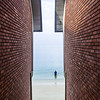 framing brick walls on the beachfront