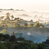 temple of the Mrauk U in the morning fog