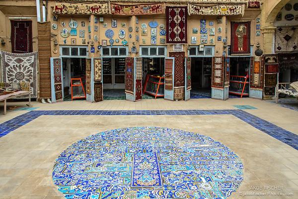 Shop selling glazed tiles, Yazd