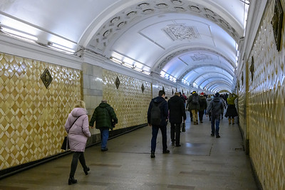 Revolution Square subway station in Moscow