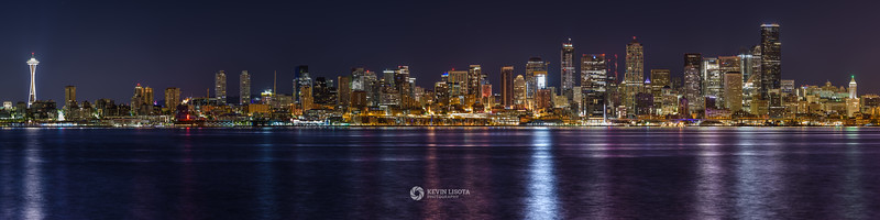 Seattle Night Skyline from Alki