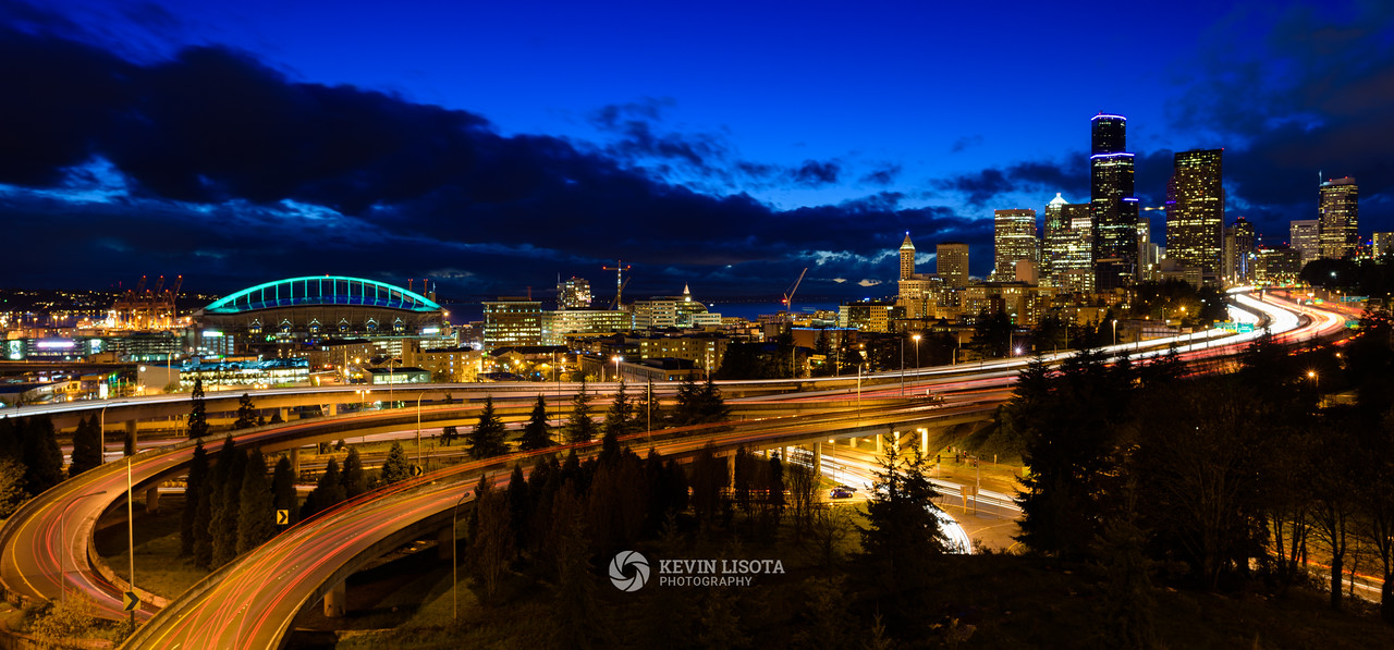 Seattle Night Skyline from Jose Rizal Bridge