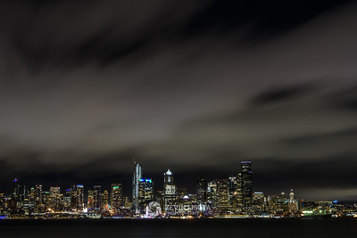 Seattle skyline at night from Alki