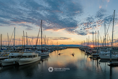 Shilshole Marina at Sunset