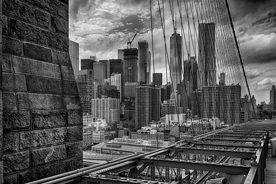 NYC downtown from Brooklyn Bridge