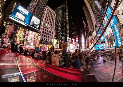 Evening in Times Square