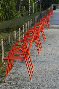 SAM Scultpture Garden - Orange Chairs