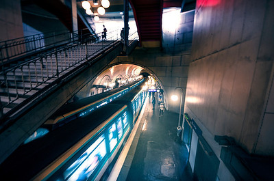 Cité Metro station in Paris, France.