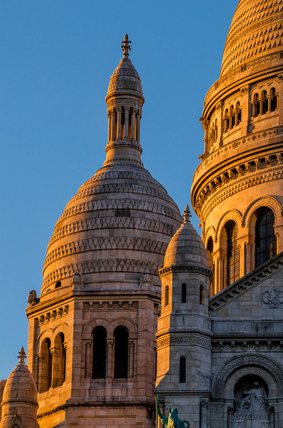 Shot of Sacre Coeur, Paris during sunset in the summer 2013.