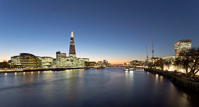 Evening View of The Shard