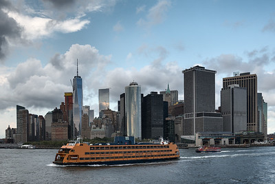 Manhattan - Staten Island Ferry, New York, NY, USA - August 19, 2015