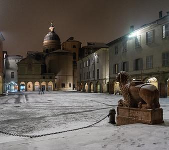 Piazza San Prospero - Reggio Emilia, Italy - January 30, 2019