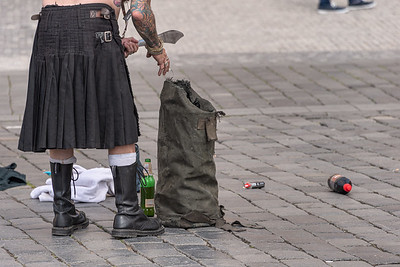 Street Artist - Prague, Czech Republic - May 18, 2019