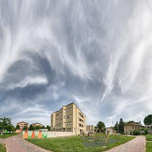 Via Campobasso - Reggio Emilia, Italy - June 9, 2019