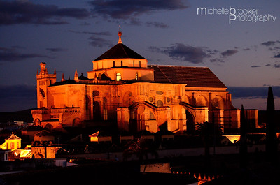 The Mesquita, Cordoba  at dusk