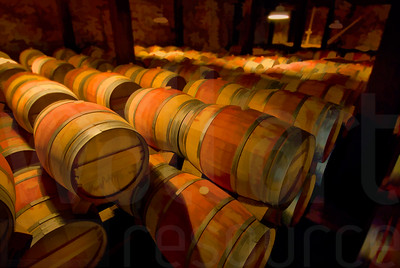 Napa Wine Barrels 001 | Wall Art Resource