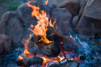 Campfire At Dusk | Wall Art Resource