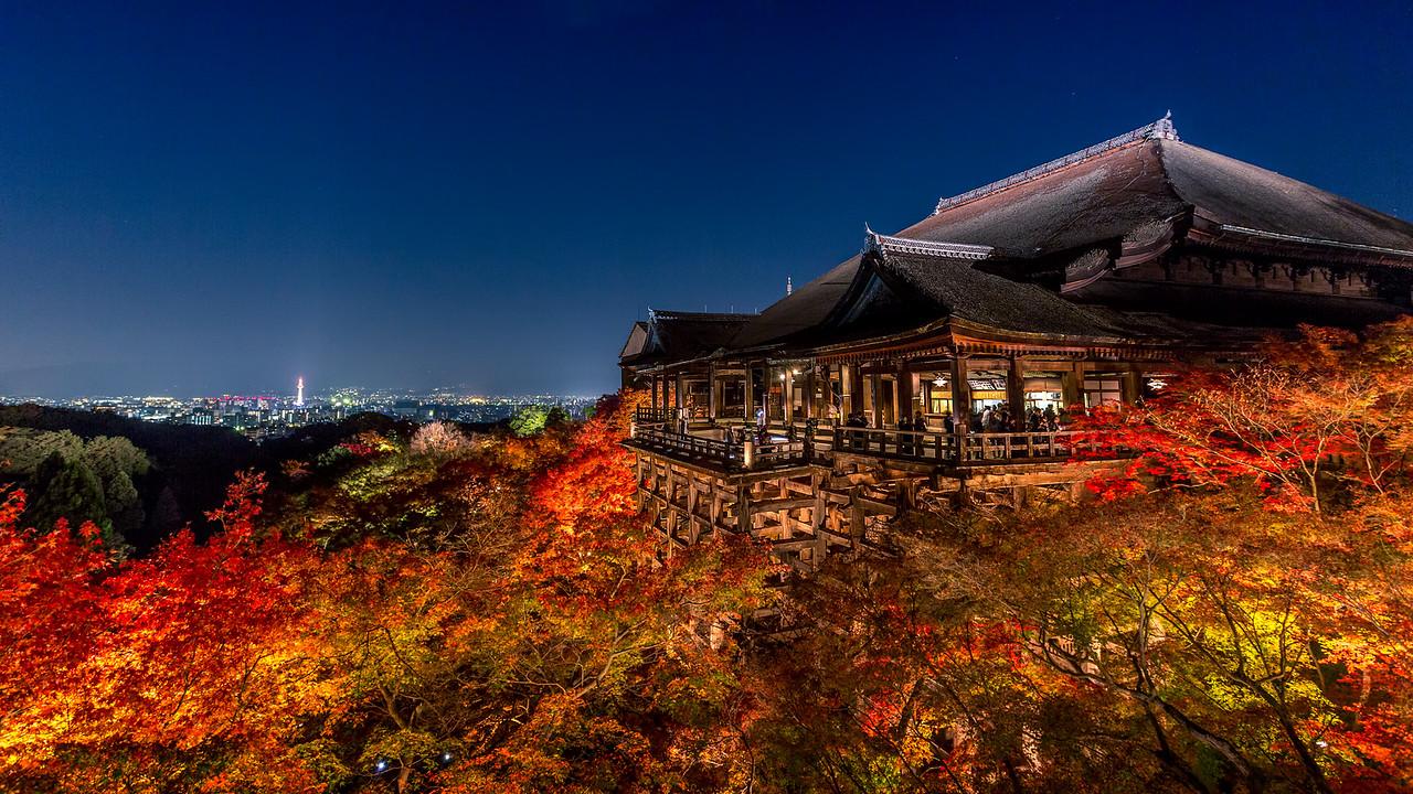 Kiyomizu-dera Temple at Night