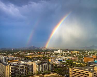 Rainbows Over Downtown Phoenix-2