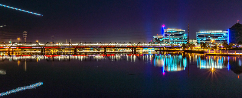 Tempe Town Lake at Night