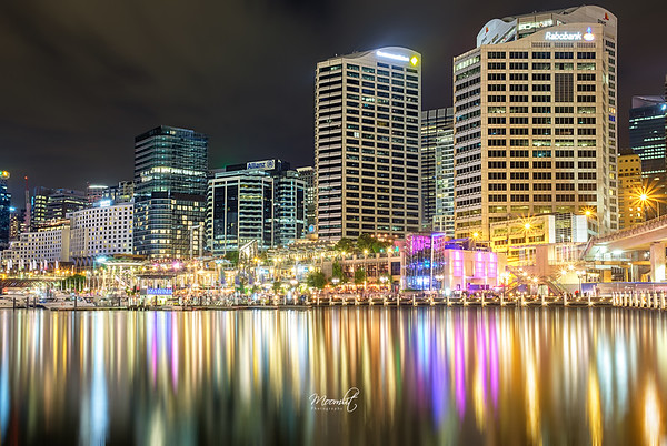 The colourful Darling Harbour!