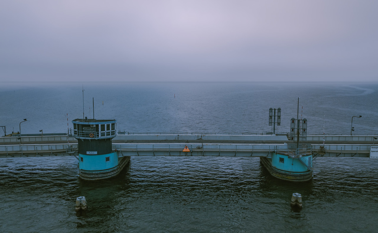 Bridge on a cloudy morning