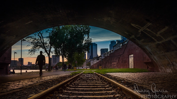 Walking along the Historic Frankfurt Railway