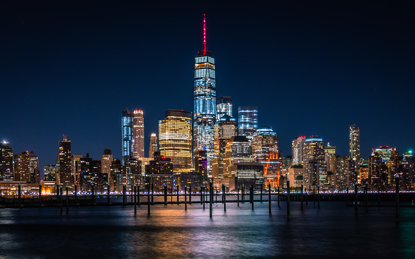 A Night with the New York Skyline
