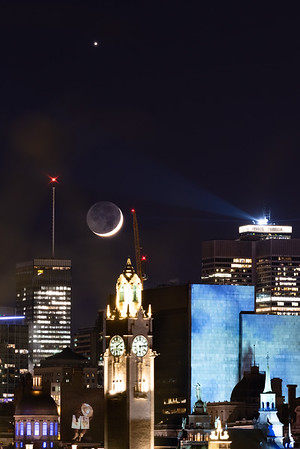 Montreal Clocktower 🆚 Venus + 🌒