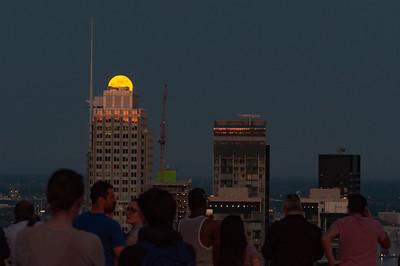 Full Moon over the IBM-Marathon Tower 🌕
