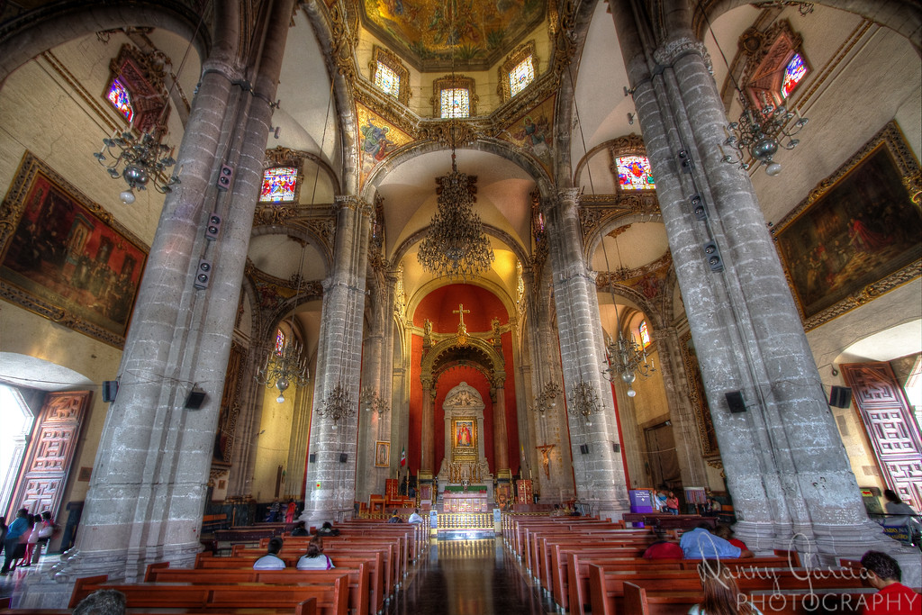 Inside The Basilica of Our Lady of Guadalupe