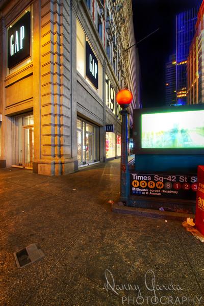 Subway Entrance and The GAP