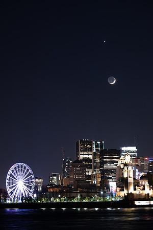Montreal Clocktower 🆚 Venus + 🌒