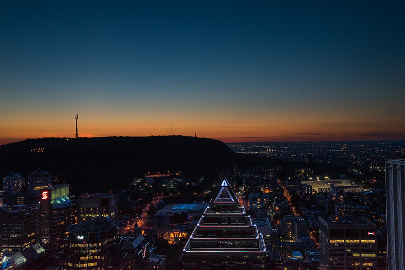 Sunset over Mont Royal