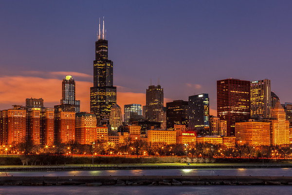 Sears Willis Tower at Dawn
