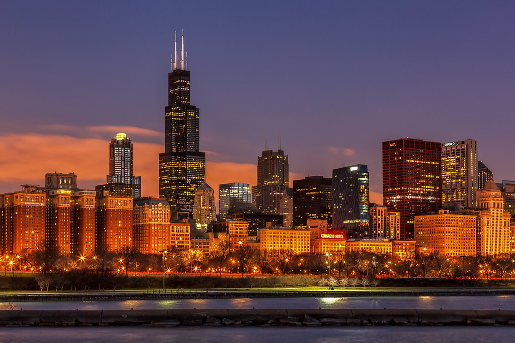 Sears Willis Tower at Dawn